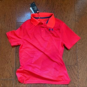 Red under armour gold shirt NWT boy YL